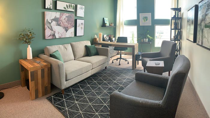 Photo of the Root Psychology Counselling Room